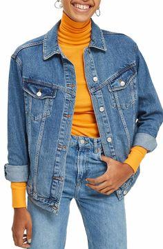 Main Image - Topshop Oversize Denim Jacket