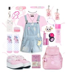 """""""B. Outfit #3 ddlg"""" by princessbabydolly on Polyvore featuring Kipling, UNIF, Diptyque, Benefit, Topshop, Stargazer, Wet Seal, Accessorize, Anchor & Crew and Moleskine"""