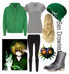 """Ben drowned Outfit (creepypasta)"" by legacy-sinister ❤ liked on Polyvore featuring moda, Dirty Laundry, Polo Ralph Lauren, Keds, rag & bone, Frame Denim y Nintendo"