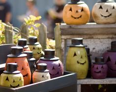 Jack-o'-lanterns in all colors, shapes and sizes!