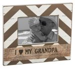 Evergreen Enterprises Shabby Chic Grandpa 4x6 Wooden Photo Frame