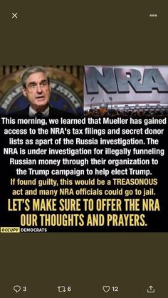 The NRA no longer stands for national rifle association it stands for nasty Republican asswipe. Caricatures, Russian Money, Political Views, That Way, Wisdom, Thoughts, Feelings, Sayings, Words