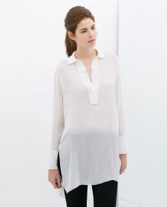 Image 1 of KNIT COLLAR TUNIC from Zara