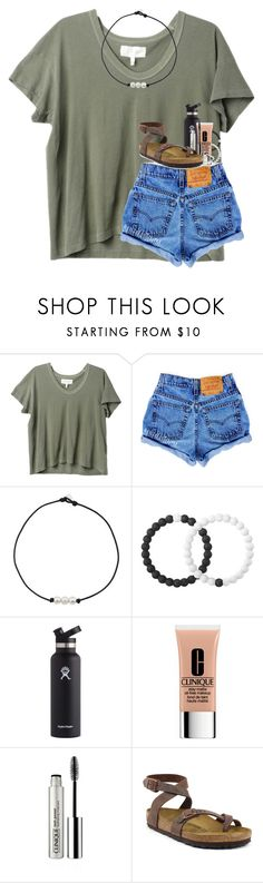 """14 days until summer"" by kyliegrace ❤ liked on Polyvore featuring The Great, Lokai, Hydro Flask, Clinique and Birkenstock"