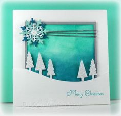 Glittery Trees by pegmac71 - Cards and Paper Crafts at Splitcoaststampers