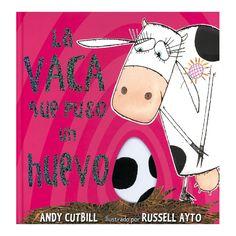 La vaca que puso un huevo por Andy Cutbill y Russell Ayto (Editorial Serres). Macarena está triste y se siente vulgar porque no sabe ir en bicicleta ni andar sólo con dos patas como las otras vacas. De noche, las gallinas de su granja traman un plan para que la Maca recupere la autoestima. Y por la mañana… ¡Macarena ha puesto un huevo!