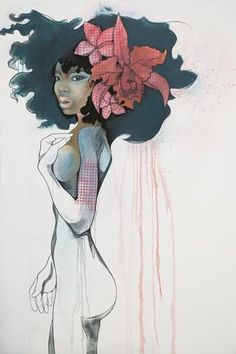 Cattleya by Lani Maeglin Imre Black Women Art, Black Art, Contemporary Paintings, Love Art, Female Art, Gorgeous Women, Outfit Of The Day, Disney Characters, Fictional Characters