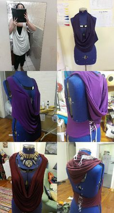The Cowl Firstly I followed THIS tutorial on how to make a draped cowl neckline. Now when I did this, I followed their instructions of lowering the neck line 3-5 inches, ignoring what I actually wa...