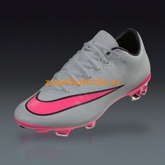 Botas De futbol Nike Mercurial Vapor X FG Gris Plata Hiper Rosa Negro  Zapatillas De Futbol 5549f34e97d41