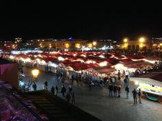 Plaza Jemma el Fna de noche Marrakech, Dolores Park, Travel, Pictures, Viajes, Destinations, Traveling, Trips