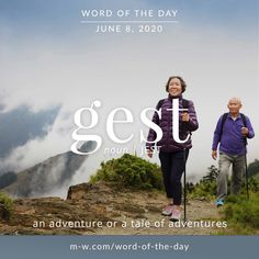 'Gest' is the #wordoftheday . #language #languagelearning #merriamwebster #dictionary Vocabulary Building, Vocabulary Words, Merriam Webster, Word Of The Day, Idioms, Some Words, Meant To Be, Writer, Language