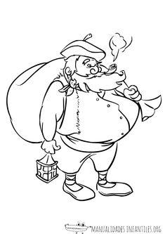Dibujos De Navidad Del Olentzero.Las 7 Mejores Imagenes De Olentzero Imprimir Sobres