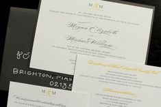 Yellow and Gray wedding invitation set by HobartandHaven on Etsy, $6.00