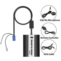 Bluetooth Adaptor Hands Free Car Integrated USB AUX Jack Mp3 Music Interface for Peugeot 407sw(2004-2005)