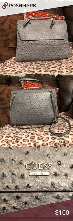 Guess Purse Guess Purse-New Condition, very pretty and elegant, blue/gray color Guess Bags Shoulder Bags