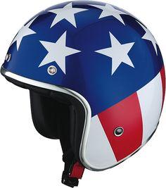 La déco du caque jet IXS HX 89 s'inspire du film américain Easy Rider : vive l'amérique /// IXS HX 89 helmets graphics are inspired from the movie Easy Rider : viva America !