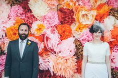 14. Pull a Kim and Kanye and have a floral backdrop at your wedding. Read more: http://www.stylecaster.com/pinterest-wedding-ideas/#ixzz34I7P7pEk