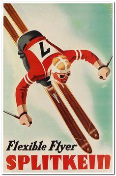 SASCHA MAURER (1897-1961) FLEXIBLE FLYER / SPLITKEIN. Circa 1935. 37x24 inches, 94x61 cm.