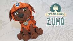 Zuma cake topper paw patrol fondant cake ideas - YouTube