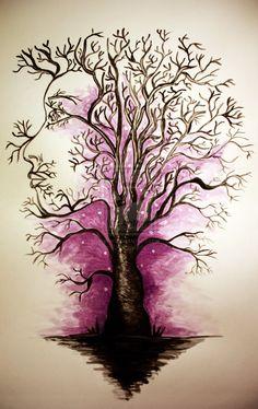 Tree woman by on deviantART Tree Woman, Natural Parenting, Ink, Aspen, Nature, Deviantart, Beauty, Spirit, Naturaleza