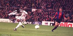 Cole's goal: The United striker netted at crucial times in 1999
