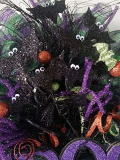 762bcd12 SALE, Halloween Bats Wreath, Wiggle Eyes, Boo Wreath (Free Shipping for VA  Residents w/ Coupon Code VAISFORLOVERS)