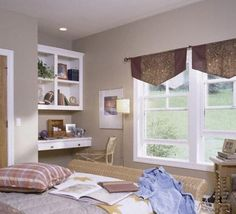 love the floating desk idea when space is at a loss Shabby Chic Girl Room, Floating Desk, Organizing Ideas, Valance Curtains, Beautiful Homes, Eye Candy, Kids Room, Space, Diy