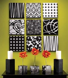 DIY pizza box wall decorations! Who would ever thought of turning empty pizza boxes into something this beautiful?