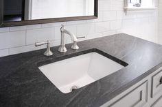 Jet Mist Granite Countertop, Transitional, Bathroom, CR  Home Design