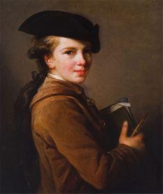 Portrait Of The Artists Brother by Élisabeth Vigée-Lebrun - Виже-Лебрён, Элизабет ,  Портрет  брата.