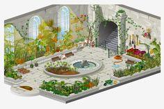 Environments Designs for Games by FULDEN BİLGİÇATAÇ, via Behance