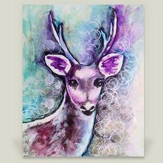 Fun Indie Art from BoomBoomPrints.com! http://www.boomboomprints.com/Product/emmakaufmann/Fairytale_Deer/Art_Prints/8x10_Print/