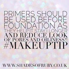 Beauty Tip  #primer #foundation #beautytip