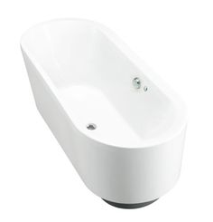 Evok Oval Freestanding BubbleMassage Bath Features: Freestanding acrylic bath (fully reinforced) Multiple air holes releasing tiny bubbles Easy installation using drop-in base support and adjustable feet Spa Shower, Home Remodeling, Massage, Bathrooms, Bubbles, Bathtub, Base, Drop, Standing Bath