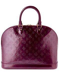 Louis Vuitton Purple Monogram Vernis Alma GM