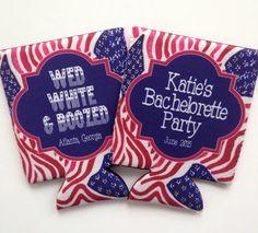 Bachelorette/Birthday America Koozies. monogrammed bachelorette koozies coozies   birthday party koozies