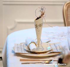 Cedar Hill Ranch: Christmas in July - French Script Cones