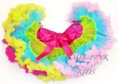 Multi color, Pink, yellow, blue chiffon pettiskirt, petti skirt, photo, Birthday, tutu, baby, chiffon girls skirt, toddler, baby, fluffy by POSHinPINKKIDS on Etsy