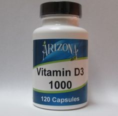 Vitamin D3 1000 - 120 Capsules  1000i.u. of Vitamin D3.  Vitamin D is necessary for the absorption and utilization of calcium and phosphorus.  It protects against muscle weakness and is involved in regulation of the heartbeat.  #Vitamins #Vitamin #Complete #Minerals #Enzymes #AminoAcids #arizonabrandnutrionals #azbeepollen #arizbrands #supplements #health #nutrition #healthbenefits #beepollen #beepollens #beehealthy #pollen #propolis #royaljelly #arizona #satisfactionguarantee