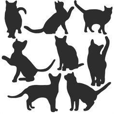 Daily Freebie 3-4-15: Miss Kate Cuttables--Cat Silhouette Set SVG scrapbook title cat svg cut files kitten svg cut files free svgs free svg cuts