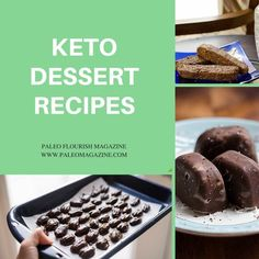 Get this giant list of ketogenic dessert recipes - they're also paleo, low carb, and dairy-free. Enjoy them while staying in ketosis.