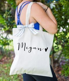 Personalized Bag Gift for Bridesmaids Canvas Bag by ZCreateDesign