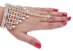 Goldpolish white diamond bracelet-2[Regular Price:                                    $25.00                                                                    Now only:                                    $12.50]