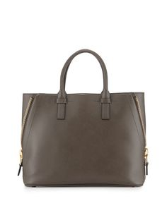 Jennifer Medium Trap Tote Bag, Graphite by Tom Ford at Neiman Marcus.