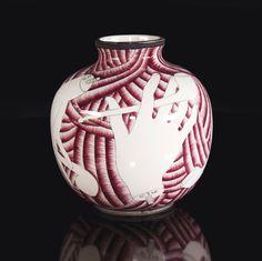 Gio Ponti Vaso modello 5913 in ceramica smaltata. Prod. Richard Ginori, Italia, 1930