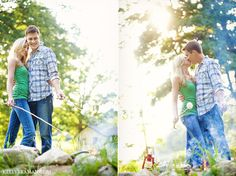 campy engagement session