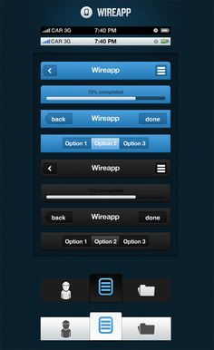 wireapp for mobile ui design