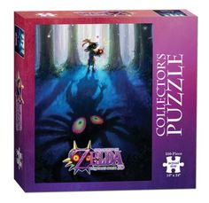 The Legend of Zelda Majora's Mask 550-piece collector's puzzle is based on Majora's Mask, a powerful ancient artifact stolen by the Skull Kid. Puzzlers will recall Link's epic battle to stop the moon