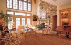 Hickory Unfinished Hardwood gives you the ability of customizing a wood floor that is unique to your own individual style.