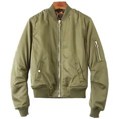 Chicnova Fashion Aviator Jacket (€30) ❤ liked on Polyvore featuring outerwear, jackets, zip jacket, collar jacket, zipper jacket, brown jacket and baseball jacket